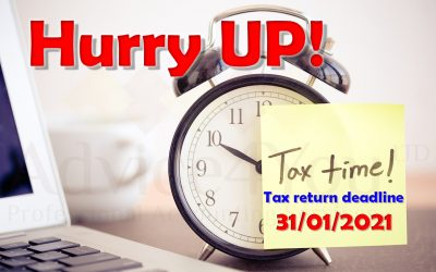SELF ASSESSMENT TAX RETURN DEADLINE 31/01/2021